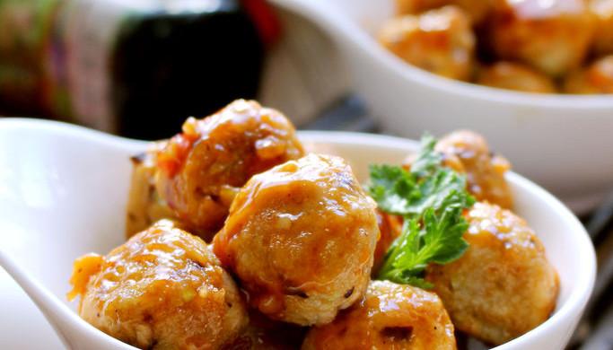 甜辣香菇藕圆