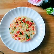 #美食新势力#米饭蔬菜鸡蛋饼