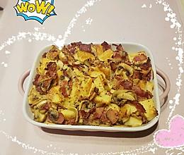 培根口蘑土司布丁的做法