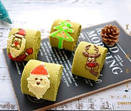 #令人羡慕的圣诞大餐#圣诞抹茶蛋糕卷的做法
