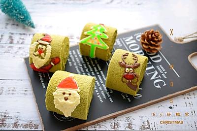 #令人羡慕的圣诞大餐#圣诞抹茶蛋糕卷