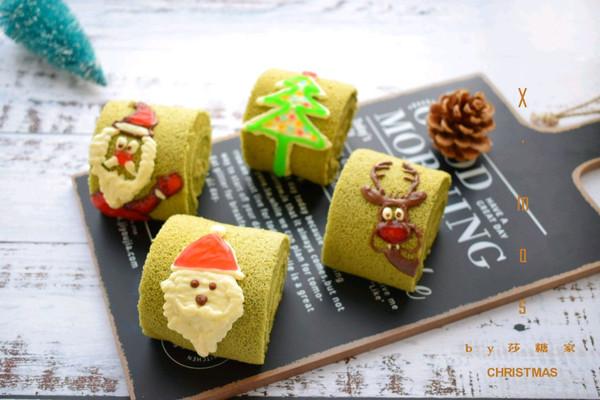 圣诞抹茶蛋糕卷的做法