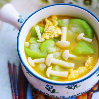 低脂美味的丝瓜菌菇鸡蛋汤