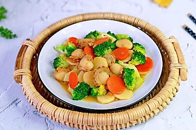 10分鐘快手小炒 時令蔬菜炒貝肉~好吃到添盤