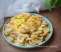 白酒蘑菇鸡的做法