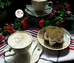 #安佳万圣烘焙奇妙夜#抹茶巧克力摩卡的做法