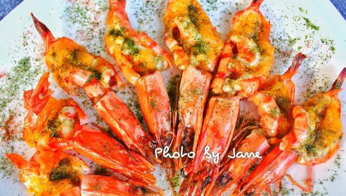 沙拉芥末酱焗大虾