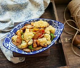 花菜炝炒五花肉的做法