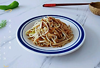 椒椒油醋烹豆芽的做法