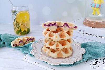 小米紫薯饼