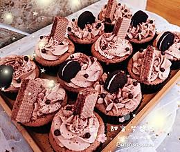 巧克力爆浆阿华田纸杯蛋糕的做法