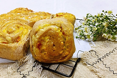 培根土豆泥黑麦小餐包(水合法)