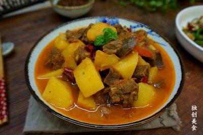 番茄牛肉炖土豆-----给你一个不一样的冬天