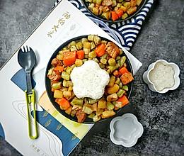 #今天吃什么#冬天在炖菜中加入米饭,儿子最喜欢~的做法