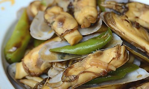 【豉椒炒蛏子】——小海鲜的惹味吃法的做法