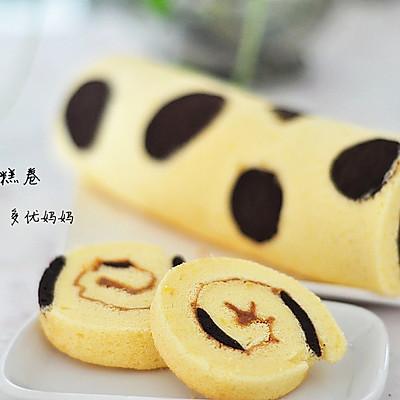 奶牛蛋糕卷【附擀面杖卷蛋糕卷方法】