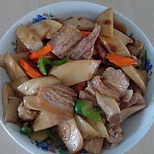 干煸杏鲍菇五花肉