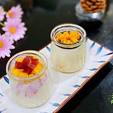 西瓜+芒果牛奶布丁,高颜值零负担的午后甜品
