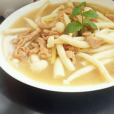 白玉菇炒瘦肉
