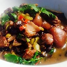 泡椒味黑豆炖猪蹄~入味而不腻