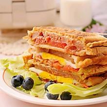 经典午餐肉三明治