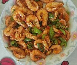 青椒爆炒东方虾的做法