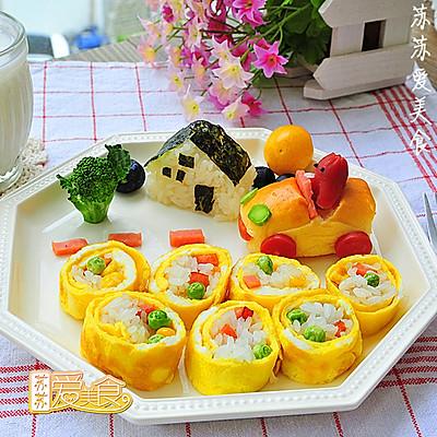 挑食孩子的童趣营养早餐【韩式蛋卷饭】