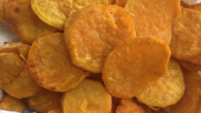 炸金币—白薯的做法