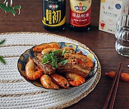 #名厨汁味,圆中秋美味#罗氏虾烧排骨的做法