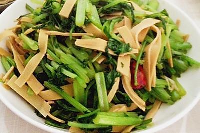 【素食主义】芹菜炒千张