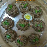 肉酿鹌鹑蛋和珍珠丸子的做法图解7