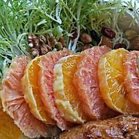 #西餐#橙柚蒜香鸡胸肉沙拉的做法图解10