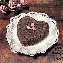 奶香爱心黑米糕
