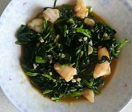 虾仁菠菜的做法