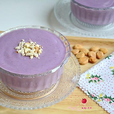 紫薯牛奶杏仁糊