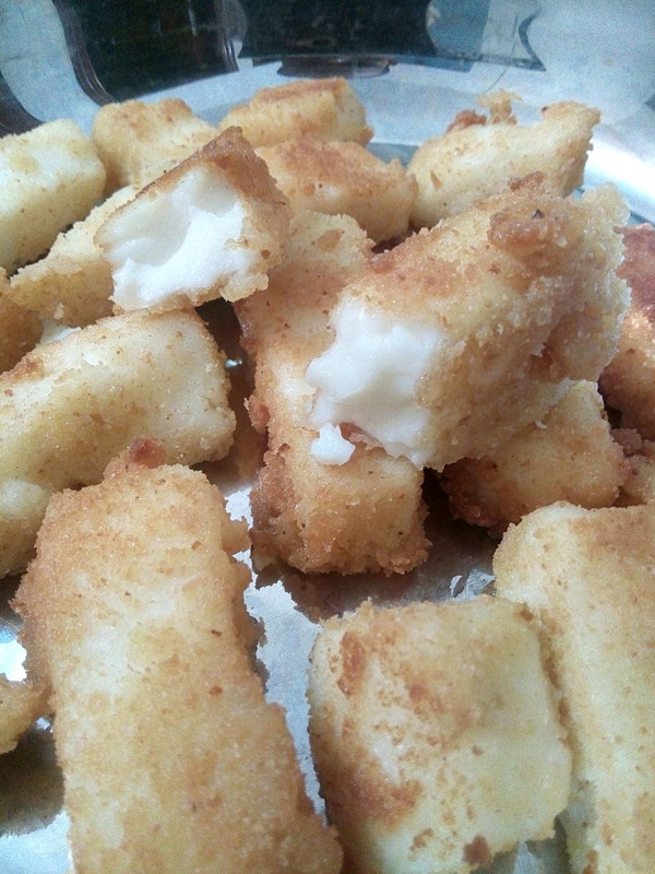 炸鲜奶-附面包糠做法的做法