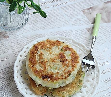 橄榄油葱饼的做法