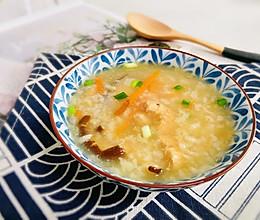 #全电厨王料理挑战赛热力开战!#香菇滑鸡粥的做法