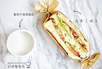 蔬菜鸡蛋三明治的做法