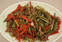 瘦肉炒扁豆的做法