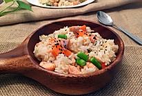 三文鱼炒饭的做法