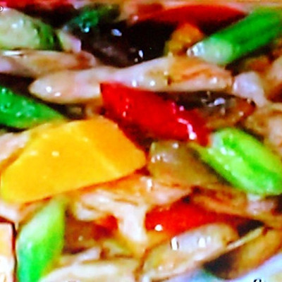 菲律宾美食·芒果炒鸡柳