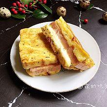 #精品菜谱挑战赛#香煎芝士午餐肉吐司