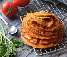 汁杂茄蔬煎饼的做法