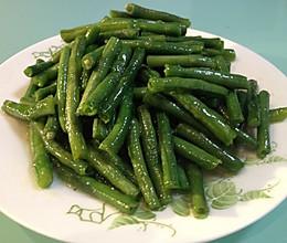 清炒带豆的做法