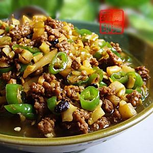 榨菜肉米粒的做法