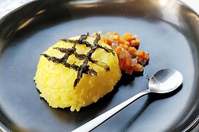 胡萝卜蛋黄拌饭