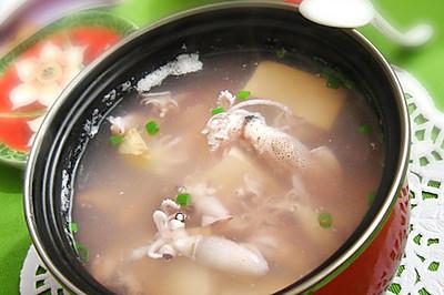 海兔豆腐汤的