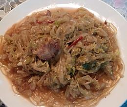 炒酸菜粉(家常东北菜)的做法