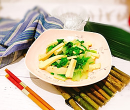 #父亲节,给老爸做道菜#凉拌香干黄芽菜的做法